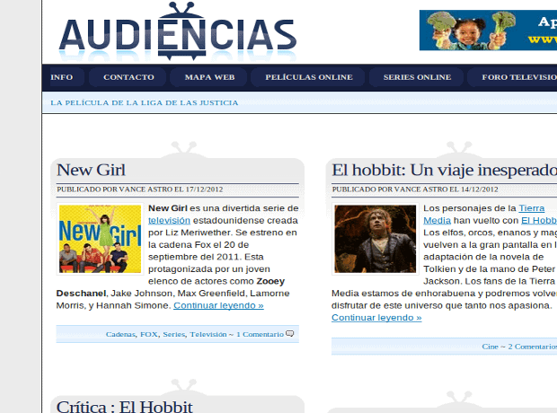 Audiencias.info,blog de series y cine