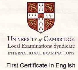 precio first certificate